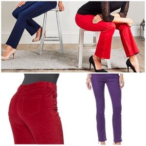 DG DESIGNER PURPLE OR MOCHA VELVET PANTS